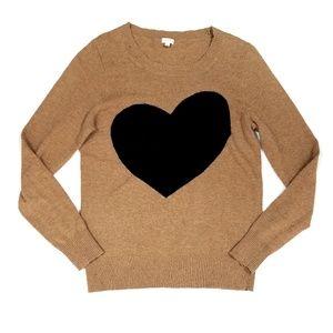J. Crew Factory Intarsia Heart Sweater